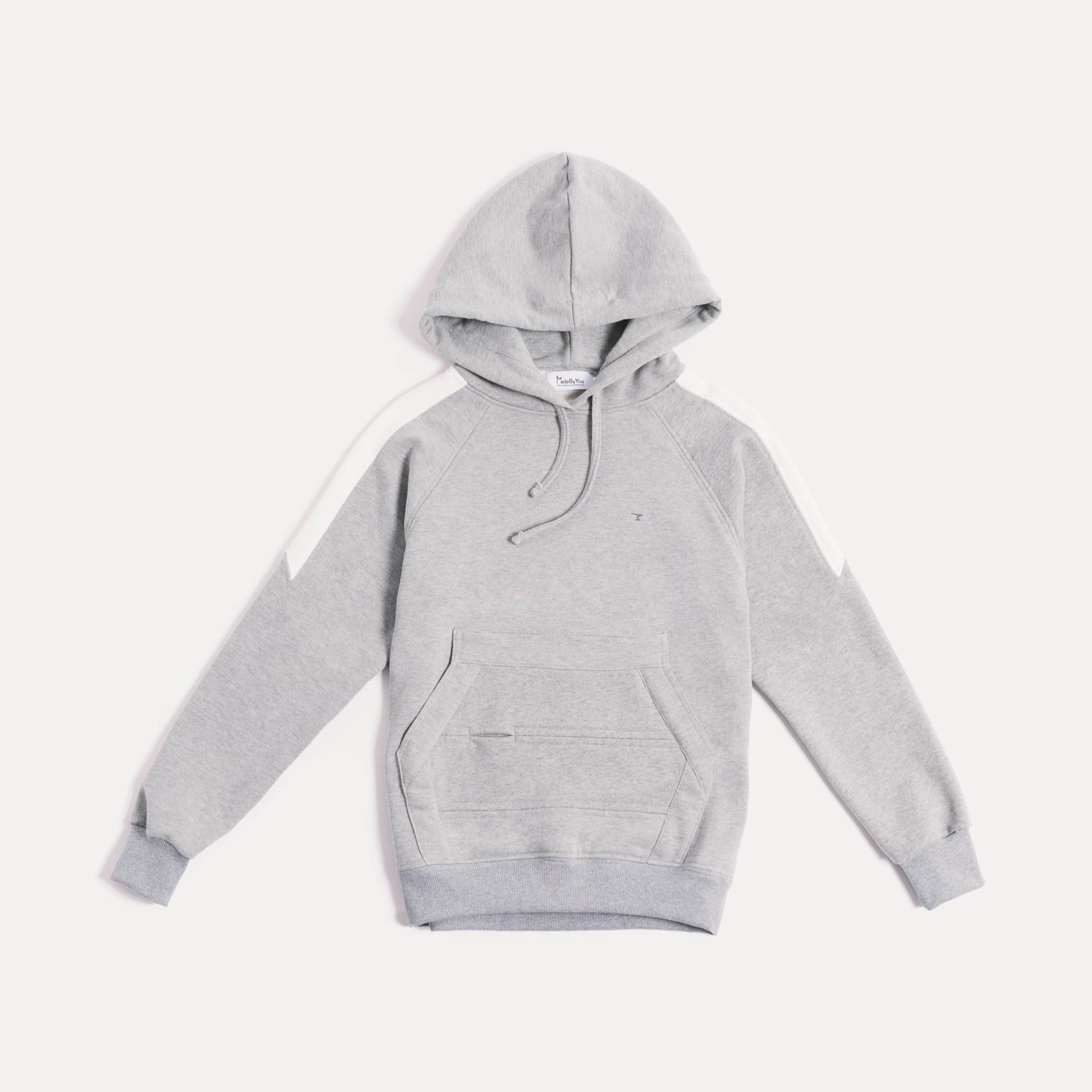 Panelled pullover marl hoodie a17