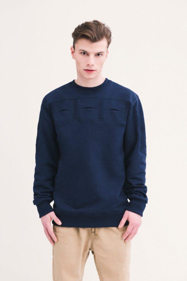 blue jumper close